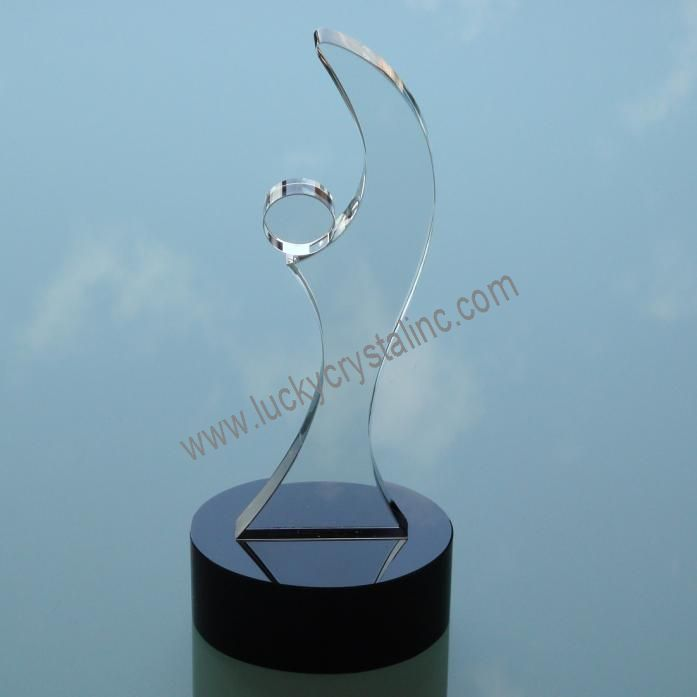 color crystal trophy