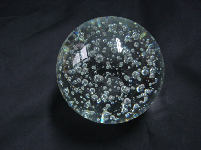 BUBBLE CRYSTAL GLASS BALL